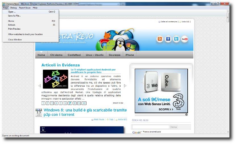 internet explorer 10 e windows 8