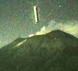 messico ufo in cratere di vulcano